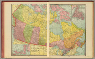 The Dominion of Canada from the latest official surveys & data. (with) Newfoundland. (with) Arctic regions, Franklin District, Canada. George F. Cram, Chicago, New York. (1909)