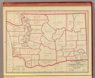 A statistical map of Washington showing manufacturing and mechanical industries, by counties. Geo. F. Cram, Engraver, Chicago. (1909)