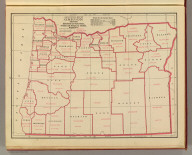 A statistical map of Oregon showing agricultural and farm values, products, and acreages by counties. Geo. F. Cram, Engraver, Chicago. (1909)