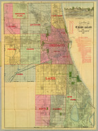 Blanchard's map of Chicago and environs 1887.