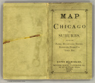 (Covers to) Blanchard's map of Chicago and environs 1887.