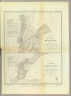 The harbor of Holmes' Hole ... The harbor of Tarpaulin Cove. Founded upon a trigonometrical survey under the direction of A.D. Bache, Superintendent of the Survey of the Coast of the United States. Triangulation by C.M. Eakin assistant. Topography by H.L. Whiting assistant. Hydrography by the party under the command of G.S. Blake, Lieutenant, U.S. Navy. Published in 1847. Final reduction for engineering by M.I. McClery, draughtsman. Engraved by Sherman & Smith, N.Y. Printed by H. Benner. Electrotype copy no. 1 by G. Mathiot, U.S.C.S. (with logo) U.S. Coast Survey Depot.