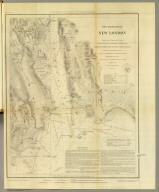 The Harbor of New London. Founded upon a trigonometrical survey under the direction of F.R. Hassler, Superintendent of the Survey of the Coast of the United States. Triangulation by E. Blunt assistant. Topography by F.H. Gerdes and J.B. Gluck assistants. Hydrography by the party under the command of G.S. Blake, Lieutenant, U.S. Navy. Published in 1848. A.D. Bache, Superintendent. Final reduction for engraving by J.B. Gluck, draughtsman. Topography engraved by A. Rolle. Lettering by J. Knight. Electrotyped by S. Siebert. Printed by H. Benner. Electrotype copy no. 2 by G. Mathiot, U.S.C.S. (with logo) U.S. Coast Survey Depot.