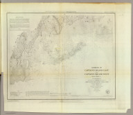 Harbors of Captain's Island East and Captain's Island West. From a trigonometrical survey under the direction of F.R. Hassler, Superintendent of the Survey of the Coast of the United States. Triangulation by J. Ferguson, assistant. Topography by C.M. Eakin, assistant. Hydrography by the party under the command of Lieutenant G.S. Blake, U.S. Navy. Published in 1849. A.D. Bache, Superintendent. Topography reduced by W. Luce, draughtsman. Hydrography reduced by W.C. Barney, Lt. U.S. Navy. Hills by A. Rolle. Title by W. Smith, and the rest by S.T. Pettit. Electrotype copy no. 2 by G. Mathiot, U.S.C.S. (with logo) U.S. Coast Survey Office.