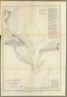 Entrance to Mobile Bay. From a trigonometrical survey under the direction of A.D. Bache, Superintendent of the Survey of the Coast of the United States. Main triangulation by F.H. Gerdes, assistant. Secondary triangulation by R.H. Fauntleroy, assistant. Topography by W.E. Greenwell, assistant. Hydrography by the party under the command of C.P. Patterson, Lt. U.S. Navy and assist. Published in 1851. Final reduction for engraving by J.J. Ricketts, draughtsman. Topography engraved by R.T. Knight and S.T. Pettit. Lettering by W. Smith. Electrotype copy no. 3 by G. Mathiot, U.S.C.S. (with logo) U.S. Coast Survey Office.