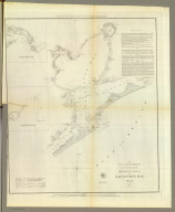 Preliminary sketch of Galveston Bay, Texas. (with) Clopper's Bar. (with) Red Fish Bar. U.S. Coast Survey. A.D. Bache, Superintendent. 1852. Second edition. (with logo) U.S. Coast Survey Office.