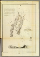 Reconnaissance of Catalina Harbor and the anchorage on the N.E. side of the island, California. J. No. 4. U.S. Coast Survey, A.D. Bache, Superintendent. By the hydrographic party under the command of Lieut. James Alden, U.S.N., assistant. 1852. (with) View of Catalina Harbor. Topography and view by W.B. McMurtrie. Topography engraved by A. Rolle, view by G. McCoy, lettering by E.F. Woodward. Electrotype copy no. 1 by G. Mathiot, U.S.C.S. (with logo) U.S. Coast Survey Office.