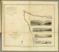 Reconnaissance of the western coast of the United States from Gray's Harbor to the entrance of Admiralty Inlet. U.S. Coast Survey. A.D. Bache, Superintendent. By the hydrographic party under the command of Lieut. James Alden, U.S.N., asst. Redd. drng. by E. Hergesheimer. Engg. by G. McCoy, E.F. Woodward & W. Smith. (with logo) U.S. Coast Survey Office.