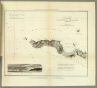 Cape Flattery and Nee-ah Harbor, Washington. U.S. Coast Survey. A.D. Bache, Superintendent. Topography by G. Davidson, assistant U.S.C.S. Hydrography by the party under the command of Lieut. James Alden, U.S.N. assistant. (with) View of Cape Flattery, Tatoosh I. bearing North (compass) 3 miles. 1853. Redd. drng. by J. Lambert. Engg. by S. Siebert & J. Young. Electrotype copy no. 1 by G. Mathiot, U.S.C.S. (with logo) U.S. Coast Survey Office.