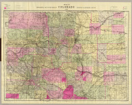 Nell's topographical map of the state of Colorado. Hamilton & Kendrick, Denver. 1895. Copyright by Louis Nell, Denver, Colo. 1895. Maps of every description prepared by Louis Nell, Denver.
