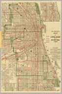 Blanchard's map of Chicago with the new street names. 1906.