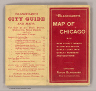 (Covers to) Blanchard's map of Chicago with the new street names. 1906.