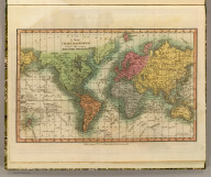 A new chart of the World on Mercator's projection. Published August 12th 1811, by William Darton Junr., 58 Holborn Hill.