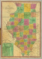 Map of Illinois with a Plan of Chicago. Published by B.S. Squire Jr. New-York 1836. Entered ... 1st day of Decr. in the year 1835 by Bela S. Squire Jr. ... New York. Engd. by J.T. Hammond N. York. (inset) Chicago.