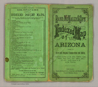 (Covers to) Rand, McNally & Co.'s Arizona. (on verso of title page) Entered ... 1879, by Rand, McNally & Co. ... Washington.