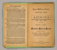 (Title Page to) Rand, McNally & Co.'s Arizona. (on verso of title page) Entered ... 1879, by Rand, McNally & Co. ... Washington.