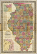 New sectional map of the state of Illinois. Compiled from the United States surveys. Also exhibiting the internal improvements, distances between towns, villages & post offices, the outlines of prairies, woodlands, marshes & the lands donated to the state by the Gen. Govt. for the purpose of internal improvements. By J.M. Peck, John Messinger, and A.J. Mathewson. Published by J.H. Colton & Co. New-York. 1852. Engraved by S. Stiles & Co. N. York. Entered ... 1836 by J.H. Colton & Co. ... New York. (inset) Vicinity of Alton & St. Louis. (inset) Vicinity of Galena, the Lead Region and part of Wisconsin and Iowa.