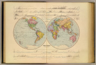 The World in hemispheres. London atlas series. Stanford's Geographical Establishment. London : Edward Stanford, 26 & 27, Cockspur St., Charing Cross, S.W. (1901)