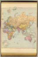 (A chart of the world on Mercator's projection. Shewing the principal ocean steam routes, the submarine telegraphs &c.) The World east. London atlas series. London: Stanford's Geographical Establishment. London : Edward Stanford, 12, 13 & 14, Long Acre, W.C. (1901)