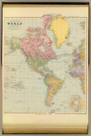A chart of the world on Mercator's projection. Shewing the principal ocean steam routes, the submarine telegraphs &c. The World west. London atlas series. London: Stanford's Geographical Establishment. London : Edward Stanford, 12, 13 & 14, Long Acre, W.C. (1901)