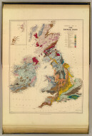 Geological map, British Isles.