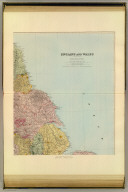 England and Wales. England, north-east. London atlas series. (Stanford's Geographical Establishment). London : Edward Stanford, 12, 13 & 14, Long Acre, W.C. (1901)