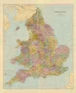 (Composite of) England and Wales. London atlas series. Stanford's Geographical Establishment. London : Edward Stanford, 12, 13 & 14, Long Acre, W.C. (1901)