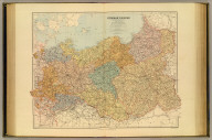 German Empire (eastern part) and Poland. London atlas series. Stanford's Geographical Estabt. London : Edward Stanford, 26 & 27 Cockspur St., Charing Cross, S.W. (1901)