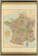 France. (with) Sketch of France divided into provinces. (with) Corsica. London atlas series. Stanford's Geographical Establishment. London : Edward Stanford, 26 & 27, Cockspur St., Charing Cross, S.W. (1901)
