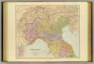 North Italy. (with) Sardinia. London atlas series. Stanford's Geographical Estabt. London : Edward Stanford, 26 & 27, Cockspur St., Charing Cross, S.W. (1901)