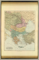 The states & provinces of the Balkan Peninsula. London atlas series. Stanford's Geogl. Estabt. London : Edward Stanford, 26 & 27, Cockspur St., Charing Cross, S.W. (1901)