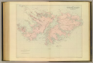 The Falkland Islands, surveyed by Captns. Robert Fitz Roy, R.N., William Robinson, R.N. and Barthw. James Sullivan, R.N. London atlas series. Stanford's Geographical Establishment. London : Edward Stanford, 26 & 27, Cockspur St., Charing Cross, S.W. (1901)