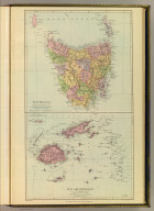 Tasmania. Fiji Archipelago. London atlas series. Stanford's Geogl. Establishment, London. London : Edward Stanford, 26 & 27, Cockspur St., Charing Cross, S.W. (1901)