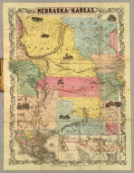 Nebraska and Kansas. Published by J.H. Colton & Co. No. 172 William St., New York, (1855). Entered ... 1855 by J.H. Colton ... New York. (with) Territory acquired from Mexico by the Gadsden Treaty. (untitled inset of U.S., Mexico, Central America)