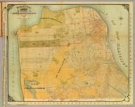 Britton & Rey's Guide Map of the City of San Francisco. 1887. Copyright. (with) Geo. F. Schild's Map Attachment. Patented Dec. 8th 1885.