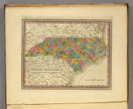 North Carolina. (Written and engraved by Jos. Perkins. 1845)