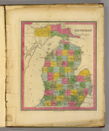 Michigan. (Written and engraved by Jos. Perkins). Published by H.S. Tanner, 1845.