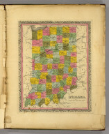 Indiana. (Written and engraved by Jos. Perkins. 1845)