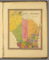 Wisconsin. (Written and engraved by Jos. Perkins). Published by Tanner, 1844 (1845).
