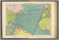 The North Atlantic Ocean. George Philip & Son, Ltd. The London Geographical Institute. (1922)