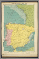 Ports of Spain, Portugal and Western France. George Philip & Son, Ltd. The London Geographical Institute. (1922)