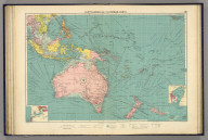 Australasian and Polynesian ports. George Philip & Son, Ltd. The London Geographical Institute. (1922)