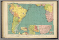 The South Atlantic Ocean. (with) Rio de la Plata. (with) South African ports. George Philip & Son, Ltd. The London Geographical Institute. (1922)