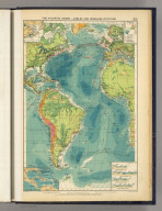 The Atlantic Ocean--cables and wireless stations. George Philip & Son, Ltd. The London Geographical Institute. (1922)