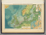 The North Sea and the Baltic--cables and wireless stations. George Philip & Son, Ltd. The London Geographical Institute. (1922)