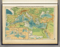 The Mediterranean and Black Sea--cables and wireless stations. George Philip & Son, Ltd. The London Geographical Institute. (1922)