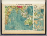 The Indian Ocean--cables and wireless stations. George Philip & Son, Ltd. The London Geographical Institute. (1922)
