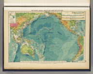 The Pacific Ocean--cables and wireless stations. George Philip & Son, Ltd. The London Geographical Institute. (1922)