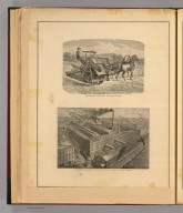 McCormick Harvesting Machine Company's works, Chicago, Illinois. Sketch by A.A. Fasel. McCormick's harvester and twine binder. Jas. Wilson-Son, N.Y. (1885)