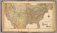 Map of the United States. Rand, McNally & Co., Map Publishers and Engravers, Chicago. (1885)